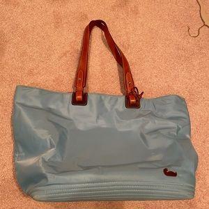 Dooney & Burke Tote blue nylon leather straps